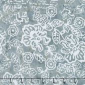 Tonga Batiks - Graphite Tossed Flowers Shadow Yardage