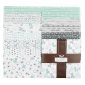 Cozy Cotton Flannels - Mint Ten Squares