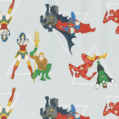 Justice League Activated - Hero Pyramid in Grey Yardage