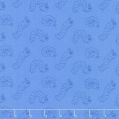 The Very Hungry Caterpillar - 50th Anniversary Edition Caterpillar Blue Yardage