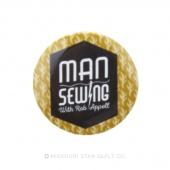 "Man Sewing Logo 1 1/4"" Button"