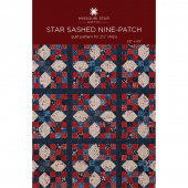 Star Sashed Nine-Patch Quilt Pattern by Missouri Star