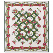 A Poinsettia Winter Twist Quilt Pattern
