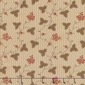 Shelbyville - Leaf & Daisy Light Tan Yardage