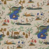 English Garden - Garden Toile Cream Linen Canvas Yardage