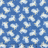 Shoreline - Chairs Blue Yardage