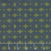 Wit & Wisdom - Dotted Diamonds Navy Yardage