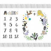 Dream - Baby Milestone Mat Multi Digitally Printed Panel