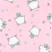 """Cuddle Prints - Whiskers Blush 60"""" Minky Yardage"""