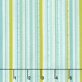 Happy Day - Happy Stripes Aqua Yardage