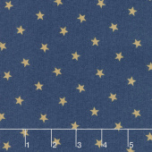 Crystal Lake - Stars Medium Blue Yardage