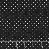 Beautiful Basics - Classic Dot Rich Black Yardage