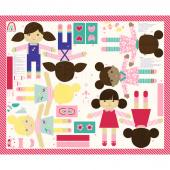Best Friends Forever - Cut & Sew Friend Dolls Multi Panel