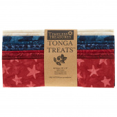 "Tonga Treats Batiks - Patriots 10"" Squares"