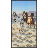 North American Wildlife - Horses Nature Digitally Printed Panel