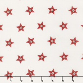 Star & Stripe Gatherings - Star in a Star Ivory Red Yardage