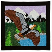 Man Sewing Eagle Over Alaska Kit
