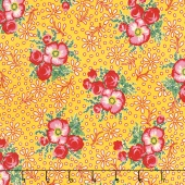 Merry Go Round - Large Floral Yellow Yardage