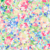Painterly Petals - Flowers Multi Digitally Printed Yardage