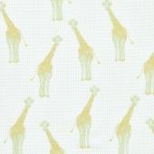 Safari Party - Safari Giraffe Mint with Sparkle Metallic Yardage