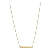 Measuring Tape Necklace - Brass