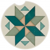 Quilt Car Coaster - Spinning Pinwheel