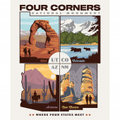 Destinations - Four Corners National Monument Panel