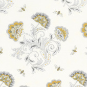 Bee Joyful - Bee's & Blooms Laurel White Yardage