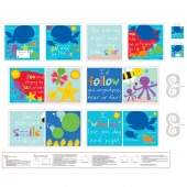 """Huggable & Lovable Books - """"You and Me by The Sea"""" Multi Book Panel"""