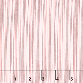 Red Dot Green Dash - Holiday Stripe Red on White Yardage