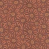 Plant Kindness - Flower Allover Rust Yardage