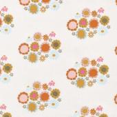 Guinevere - Flower Cream Yardage