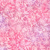 Artisan Batiks - Garden Style Flowers Rose Yardage