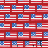 Patriotic Picnic - Flags Red Yardage