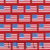 Patriotic Picnic - Flags Red Yardage