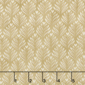 Brew - Coffee Foam Leaves Burlap Tan Yardage