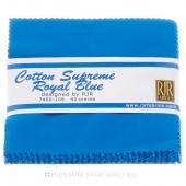 Cotton Supreme Solids Royal Blue Charm Pack