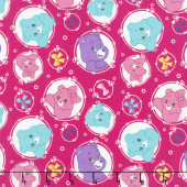 Care Bears - Sparkle & Shine Arrows in Berry Yardage