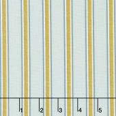 Kelmscott - Gilt Stripe Aqua Yardage