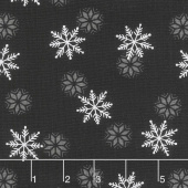 Holiday Lodge - Snowfall Charcoal Yardage