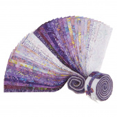 "Java Batiks Favorites Purples 2.5"" Strips"