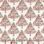 Hearthside Holiday - Holly Jolly Trees Snowy White Yardage