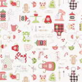 We Whisk You A Merry Christmas - Christmas Baking Ultra White Yardage