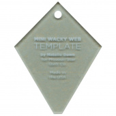 "Missouri Star Limited Edition Mini Periwinkle (Wacky Web) Template for 2.5"" Charm Packs - Blue"
