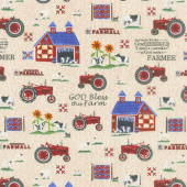 Farmall - Folk Art Sampler Multi Yardage