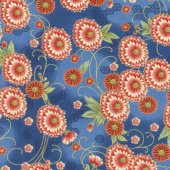 Imperial Collection 15 - Spring Flower Blue Metallic Yardage