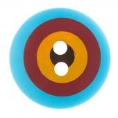 """Kaffe Fassett Button - 3/4"""" Blue Multi Target"""
