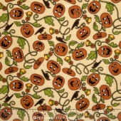 Pumpkin Party Flannel - Pumpkin Patch Tan Yardage