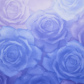 Gradients - Blue Roses Blues Digitally Printed Yardage
