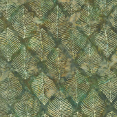Splendor Batiks - Beech Leaves Forest Yardage